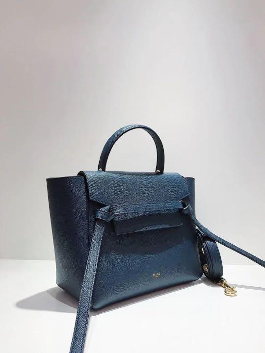 Brand new Celine micro belt bag navy