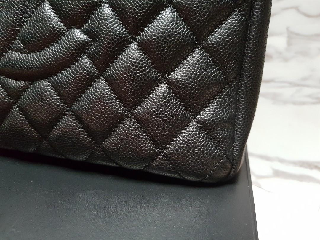 CHANEL GST in Black Caviar with Silver hardware