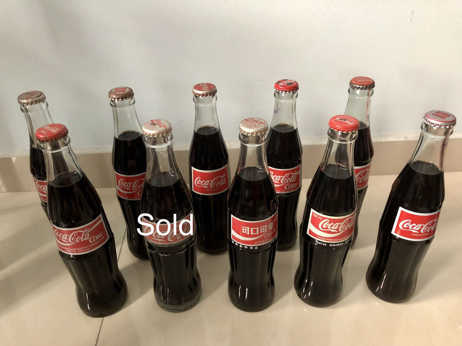 Coca Cola bottles (normal size)