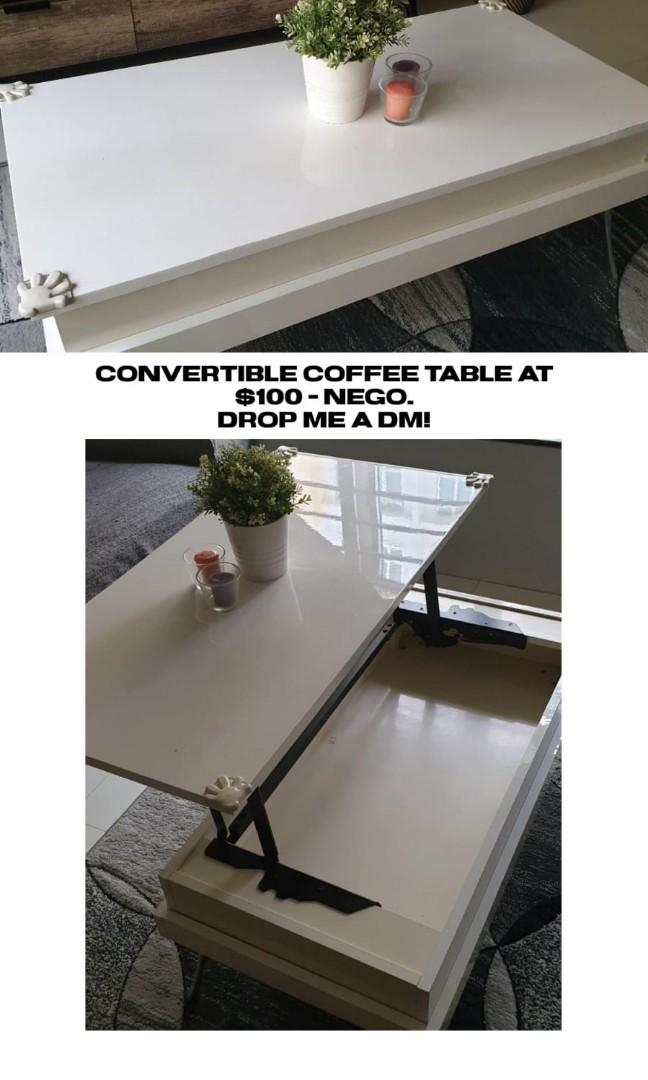 Picture of: Convertible Coffee Table Furniture Tables Chairs On Carousell