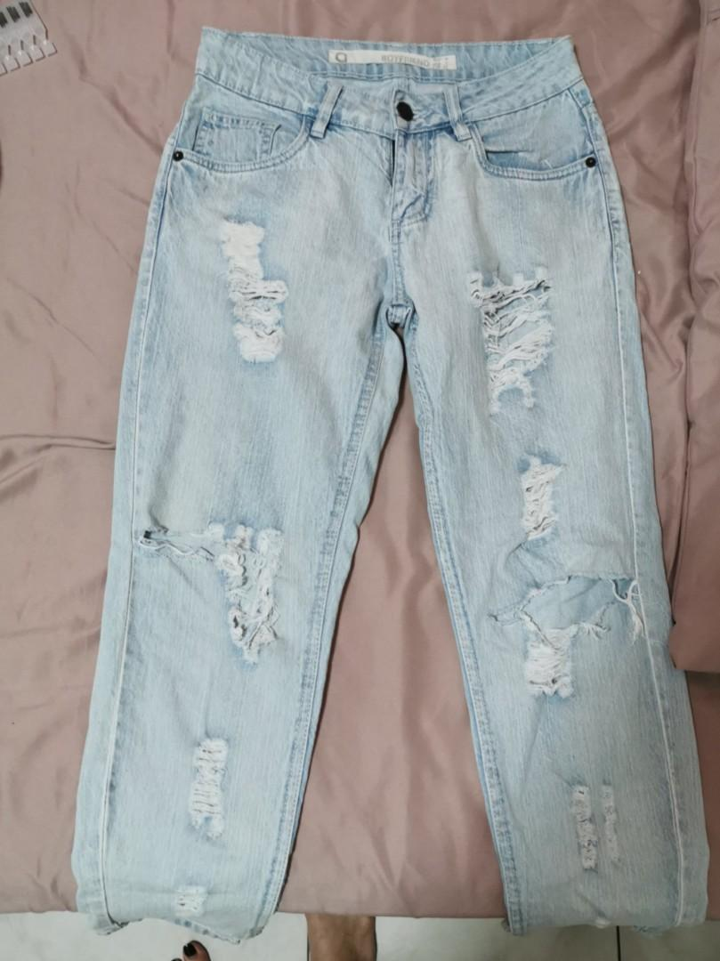 [Factorie] Light Blue Boyfriend Ripped Jeans
