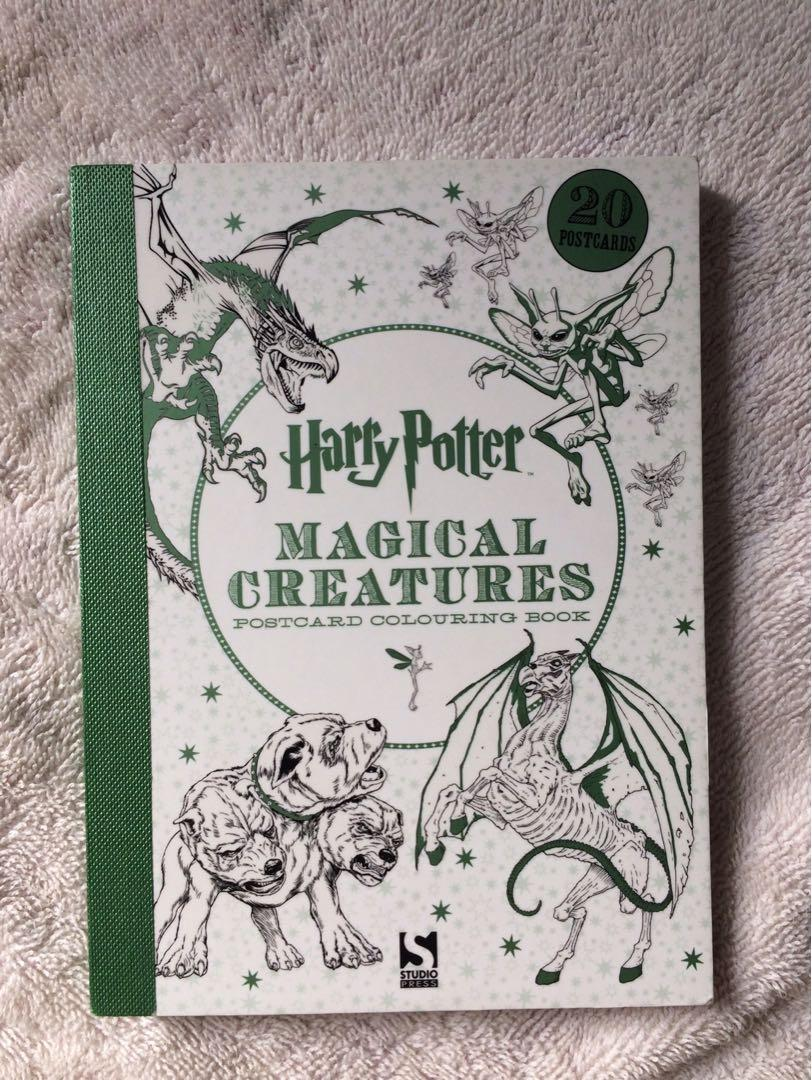 Harry Potter Postcard Colouring Book ( Magical Creatures )