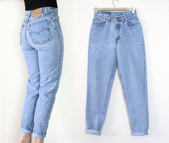 Highwaist Boyfriend Jeans Wanita Biru Muda