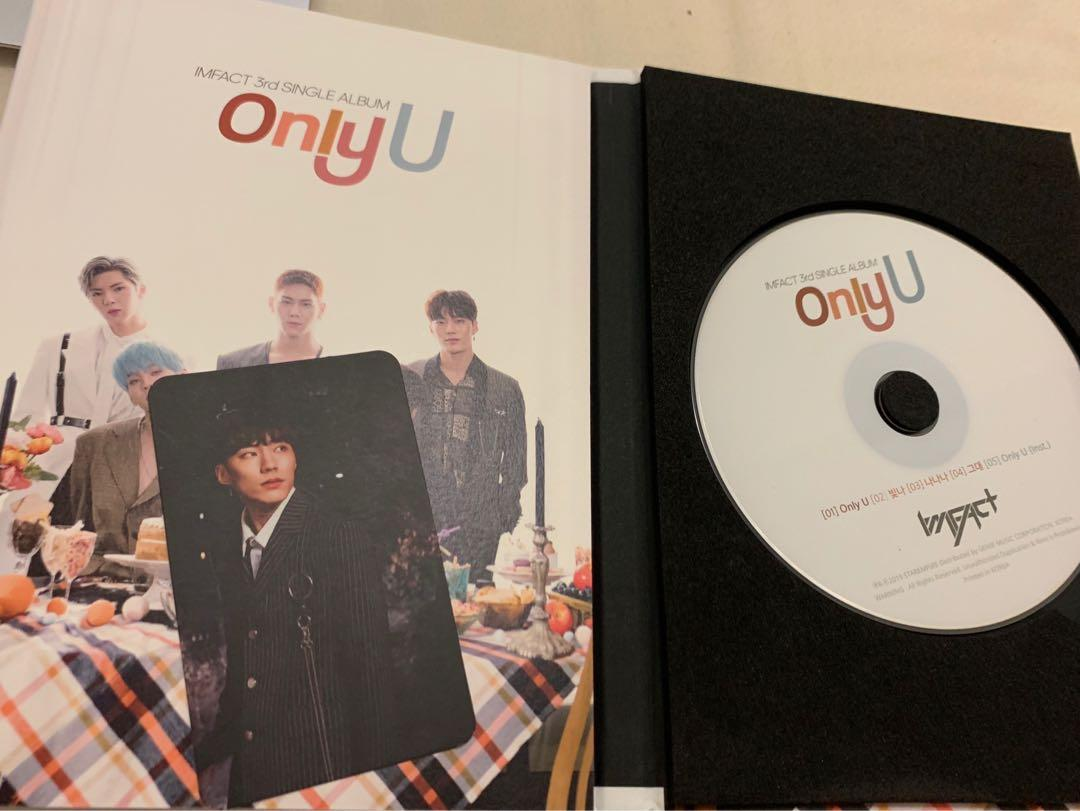 Imfact Only U 3rd Single Album with Jeup or ot5 photocard