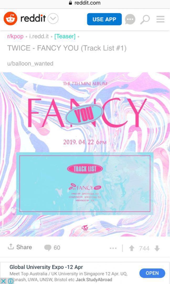 Int trade Twice 7th mini album fancy you, Entertainment, K