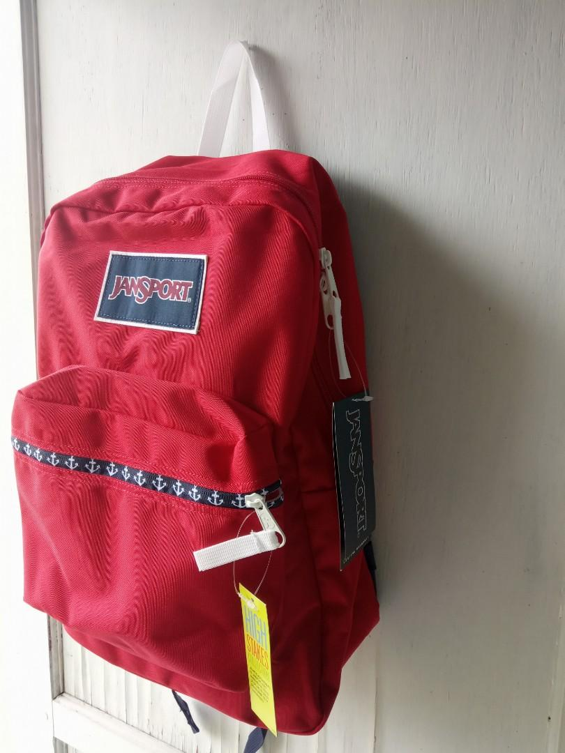 JANSPORT HIGH STAKES RED