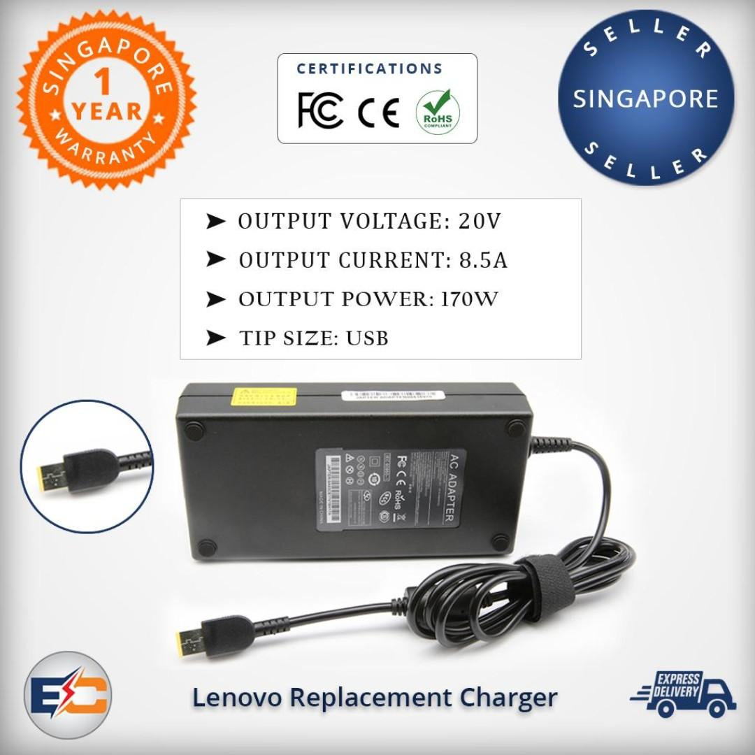 Lenovo 20v 8 5a 170w (USB) Replacement AC Adapter Charger
