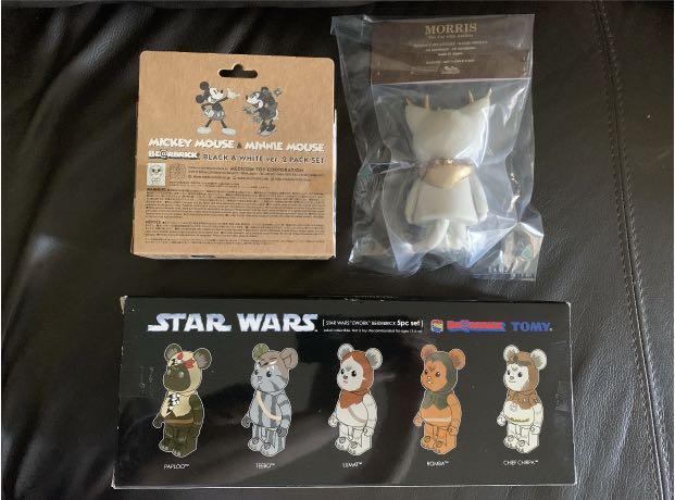 Mickey Minnie Mouse Morris Star Wars Ewok 100% Bearbrick Vinyl Toy