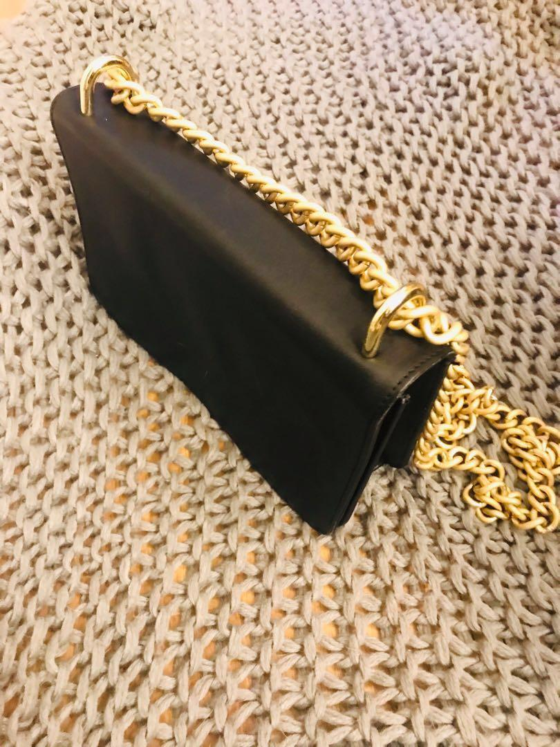 NAKEDVICE CHAIN BAG MATTE BLACK GOLD SOLD OUT ONLINE RRP$199 AUTHENTIC