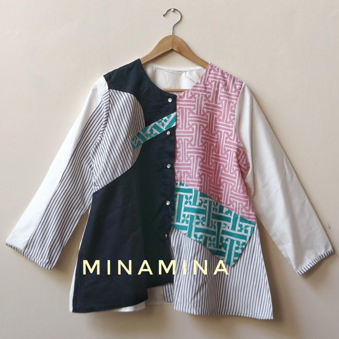 [NEW] Baju Atasan Wanita Smart Casual Batik Kombinasi WSA