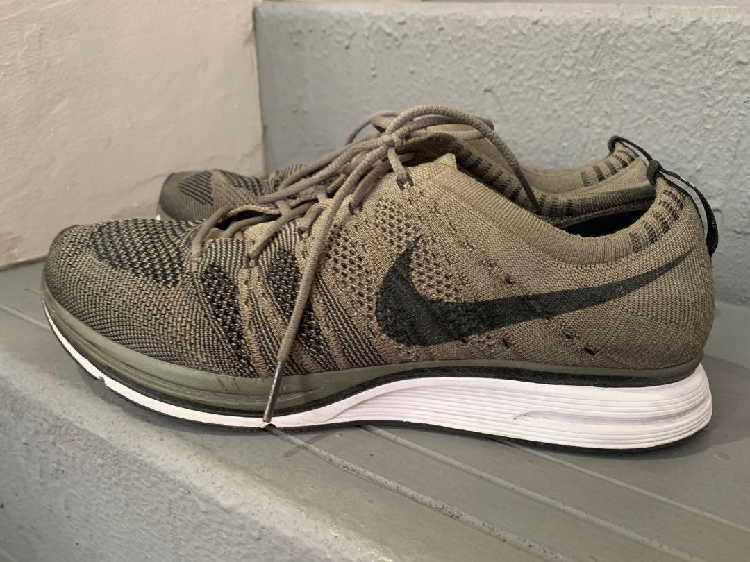 Nike Flyknit Trainer Olive Green, Men's