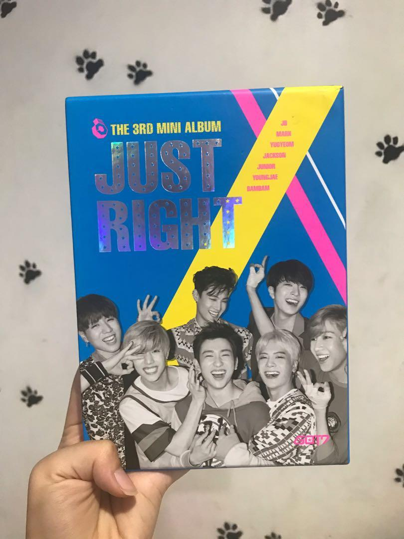 (PRE LOVED) GOT7 THE THIRD MINI ALBUM JUST RIGHT - NO POSTER