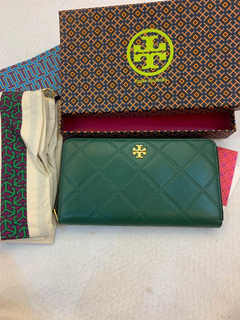 (Raya ready Stock) Authentic Tory Burch Georgie continental women wallet long purse phone holder