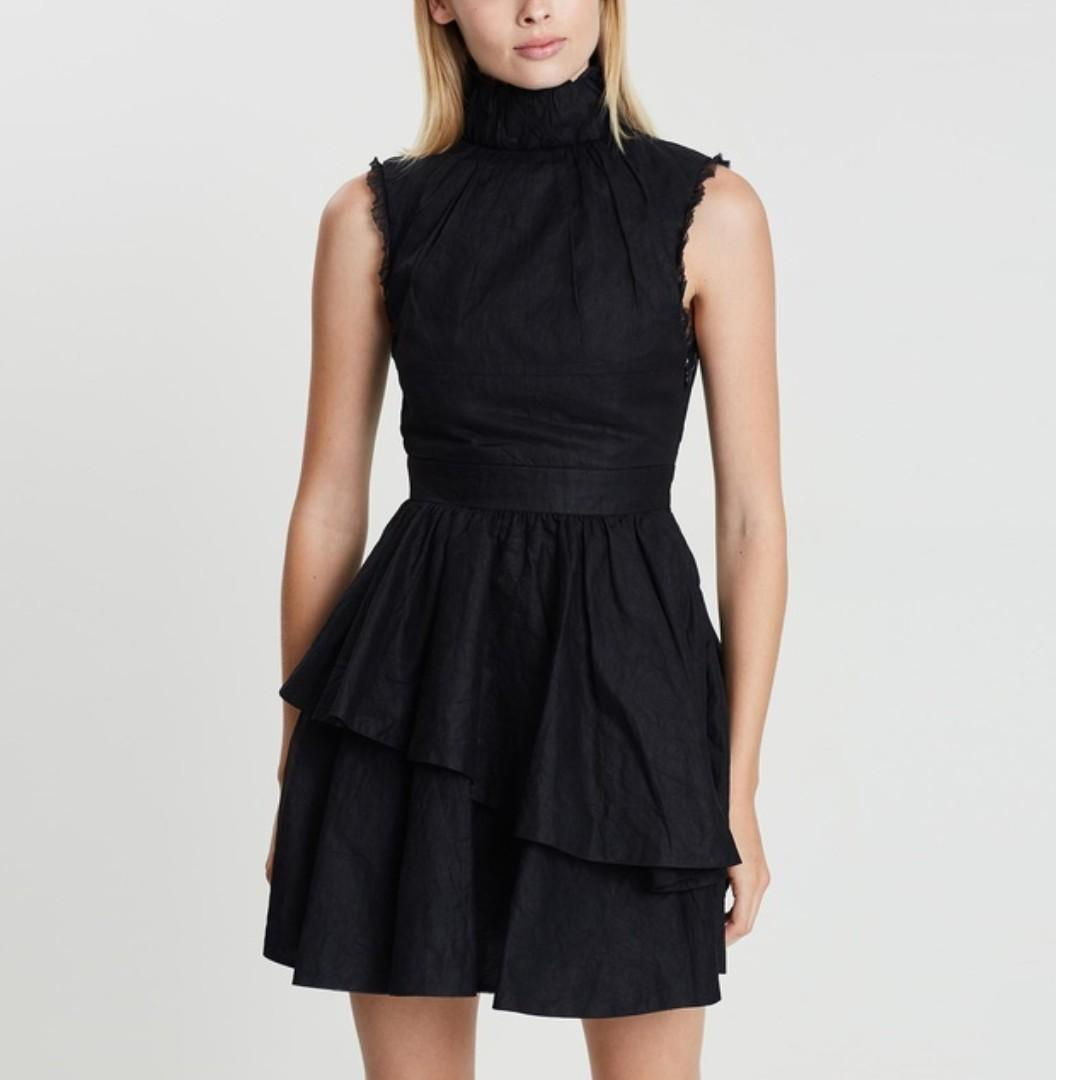 RENTING: Asilio Cotton Organdy Pleated Dress - Size 8 / Small RRP: $470