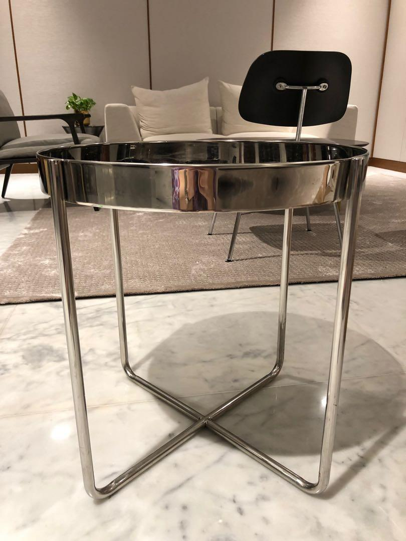 Taylor B Side Table Mirrored finishing