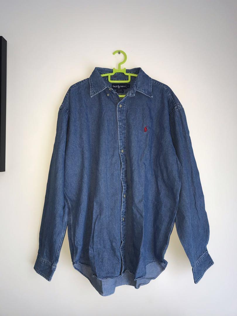 Vintage denim ralph shirt