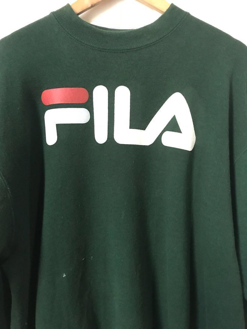 Vintage FILA Sweatshirt in dark green
