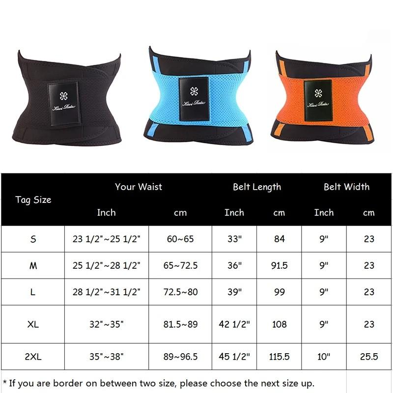 Waist trainer corset weight loss fitness Waist Belt  Workout Shapewear Slimming sexy curves fat loss gym back support abs high quality