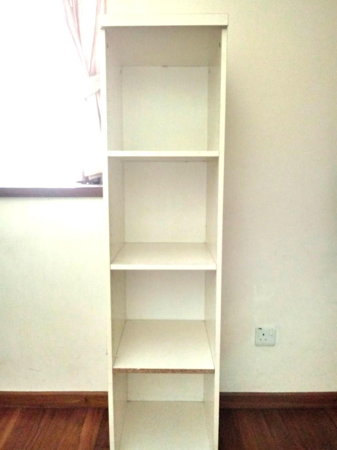 White Billy Bookcase 4 Tier Furniture Shelves Drawers On