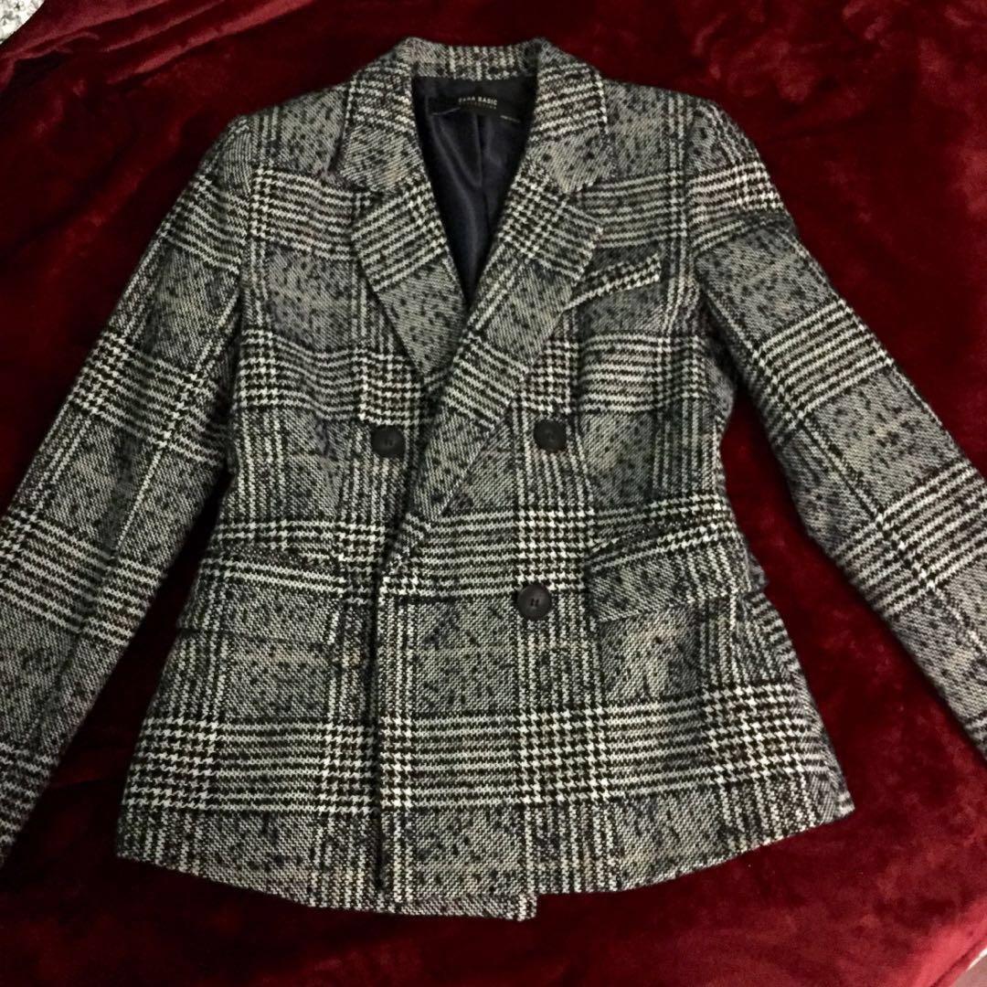Zara Textured Grey Blazer