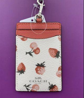 Coach Lanyard strawberry 🍓 print
