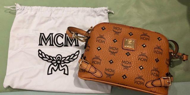 (USED ONCE) MCM Rivet Studded Sling Bag