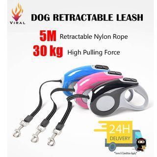 Auto Retractable Leash 5M Long, 30kg High Pulling Force #Dog #Cat #Premium Material