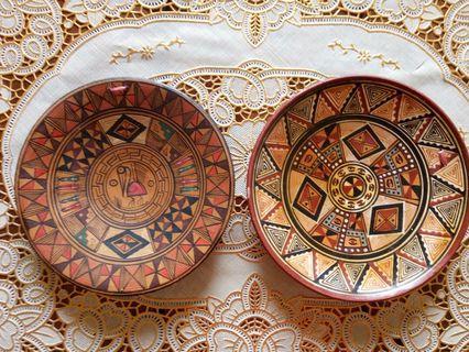 Peru 秘魯手繪陶土盤