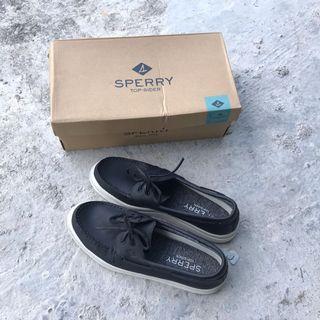 Sperry Boat Shoes Top Sider 2 Eye Raincoat Black Original New