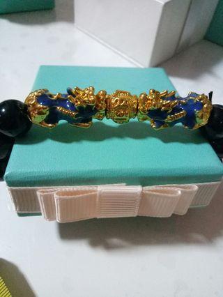 Raya Promo Blue Dragon Beads thai gold Bracelet