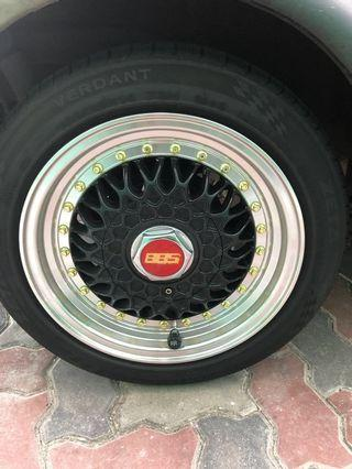 """14"""" BBS rims with tyre"""