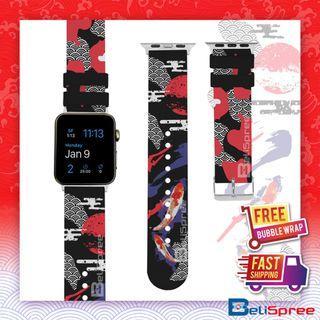 Brand New Koi Custom Design Japan Edition TPU Wrist Strap Apple Watch Band 38mm 42mm for iWatch Series 4 3 2 1