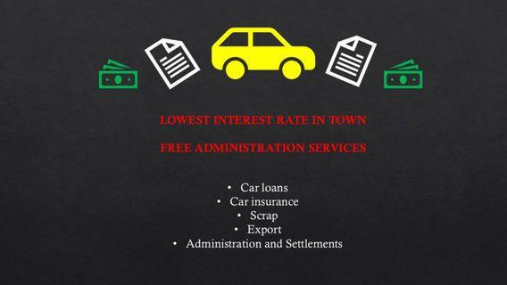 Car loans, Insurance, Export & many more services