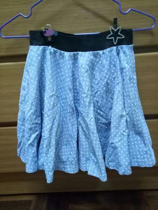 🚚 免費贈送-白點點 牛仔短裙 a字裙