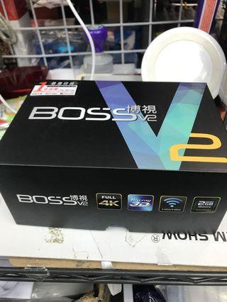 Boss tv 博視V2(4k最新版本)全新行貨