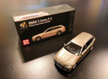 Tiny BMW 5 Series F11 HK Police Traffic Limited Edition 隱形戰車會展限定