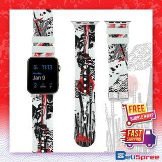 Brand New Seppuku Custom Design Japan Edition TPU Wrist Strap Apple Watch Band 38mm 42mm for iWatch Series 4 3 2 1