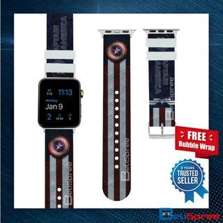 Brand New Captain America Custom Design Avengers Edition TPU Wrist Strap Apple Watch Band 38mm 42mm for iWatch Series 4 3 2 1