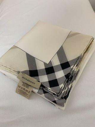 BURBERRY 100% silk scarf