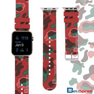 Brand New Camo B Red Custom Design Camouflage Series TPU Wrist Strap Apple Watch Band 38mm 42mm for iWatch Series 4 3 2 1