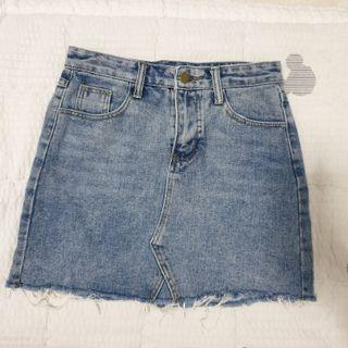 🚚 high waist denim skirt