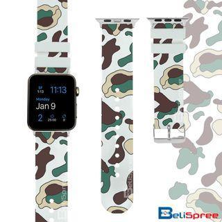 Brand New Camo C White Custom Design Camouflage Series TPU Wrist Strap Apple Watch Band 38mm 42mm for iWatch Series 4 3 2 1