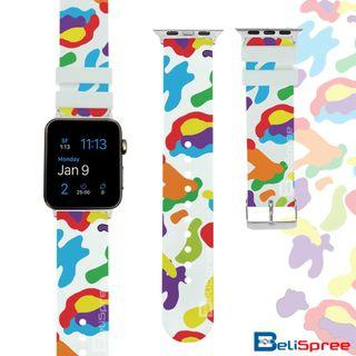 Brand New Camo E White Custom Design Camouflage Series TPU Wrist Strap Apple Watch Band 38mm 42mm for iWatch Series 4 3 2 1