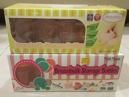 Standard Neck Breastmilk Storage Bottles - 5oz (10 bottles)