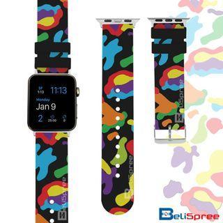Brand New Camo F Black Custom Design Camouflage Series TPU Wrist Strap Apple Watch Band 38mm 42mm for iWatch Series 4 3 2 1