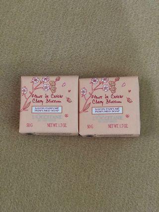 L'Occitane Cherry Blossom Perfumed Soap x 2