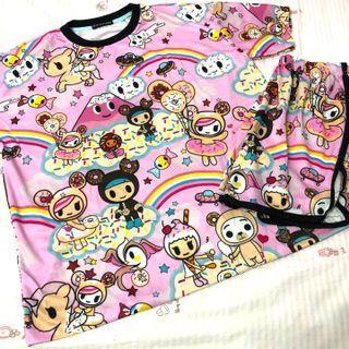 $11* Brand New Tokidoki Pink Rainbow Sleepwear Set