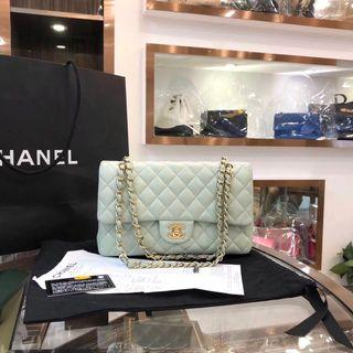Authentic Pre-loved Chanel Classic Medium Double Flap Mint