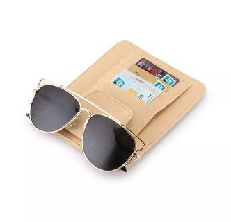 Universal Car Auto Visor Organizer Holder PU Leather Case for Card Glasses Car Accessories Sun Visor Organizador Car-Styling