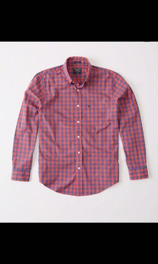 美國🇺🇸帶回全新A&F 全新S號質感搭配款襯衫